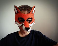 Halloween Fox Mask PDF pattern