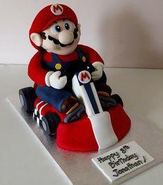 kart cake, mario kart, sons, racing, birthdays