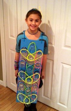 Rainbow Loom costume! Clever!