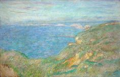 Cliffs Near Dieppe - Claude Monet