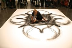 This Woman Bends and Folds Her Body Across A Giant Canvas. When I Saw What She Made, I Was Blown Away.