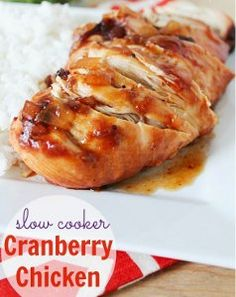 This recipe for Slow Cooker Cranberry Chicken is so easy that it requires almost no work on your part. Simple chicken recipes like these are perfect for a busy day of work or errands or for an easy party meal.