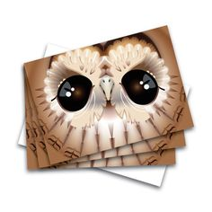 3 set of Tawny Owl cards