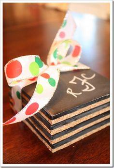Chalk Board Coasters