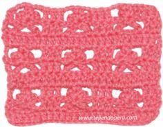punto flor de lis en crochet