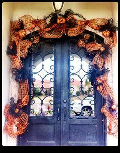 front door halloween decorations | Halloween Door Decor | Front Door