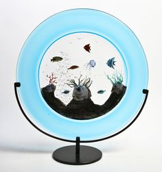 Murano Glass Aquarium Sculpture