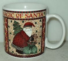 Sakura Debbie Mumm Magic of Santa Holiday Christmas Tree Toy Bag Coffee Cup Mug ~ This Item is for sale at LB General Store http://stores.ebay.com/LB-General-Store ~Free Domestic Shipping ~