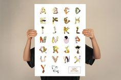 Egon Schiele typeface - Nathalie Hallman