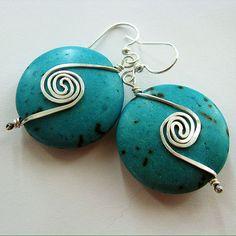 Free Wire Jewelry Designs   Double Swirl Earrings - Free Jewelry Making Pattern