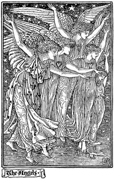 'The Angels' by Walter Crane (1895)
