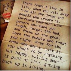 Yes!!!  Always walk away from the drama and the gossip, even if it means starting over!  Sometimes overcoming is simply realizing you are worthy of more and letting it all go!