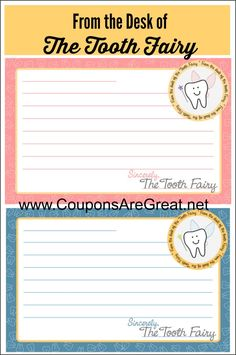 Tooth Fairy Traditions: This free Printable Tooth Fairy Letterhead makes it easy to leave a congratulatory note for your kiddo when a tooth is lost.