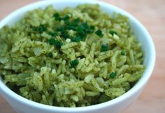 garlic herb green rice  (swap for brown rice and low sodium chicken broth)
