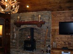 Rustic Fireplace / Family Room Decor