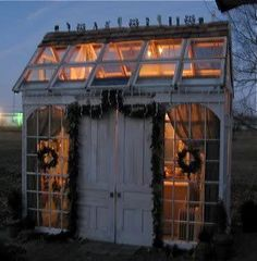 Illuminated garden cottage