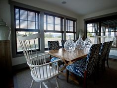 armchair, dine, blue, dream homes, upholstered chairs, dream kitchen, 2012, windsor chairs, hgtv dream