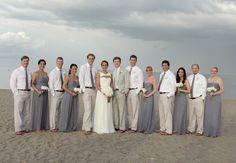 Grey & White romantic beach wedding at Seagate Beach Club in Florida