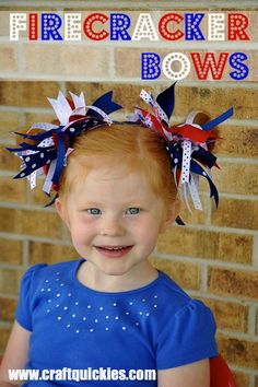 Firecracker Bows from Craft Quickies- such a fun idea!