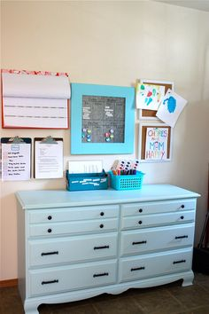 Great organization idea....Could be done in one central place or for each child's bedroom.