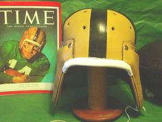 Notre Dame Leather Football helmet worn in the late 1940s - 1954