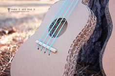 music, crafti, stuff, craft idea, activité manuell, cardboard guitar, guitars, diy, kid