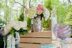 Beautiful Wedding D Cor With Roses And Hydrangea By Lilybees Floral