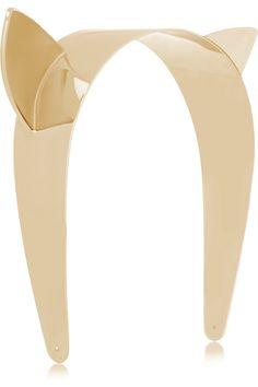 Maison Michel Yoko gold-tone cat-ear headband