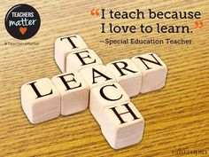 Why do you teach? Read some powerful answers + add your own.