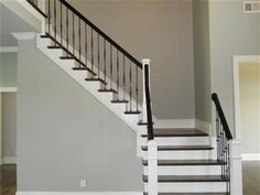 stair, grayblu paint
