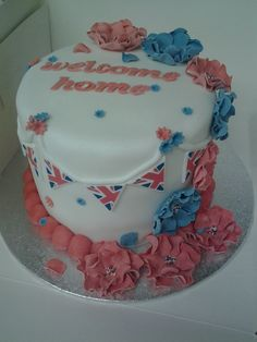 welcome home cake, for a friend whos nan was coming home to the uk from usa  :D