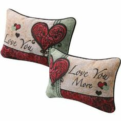LOVE YOU LOVE YOU MORE PILLOW