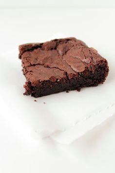 triple chocOlate bittersweet brownies