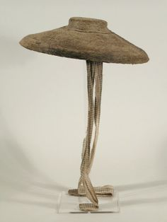 Chip hat with printed cotton lining 1750-1769