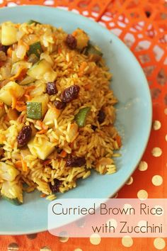 Curried Brown Rice with Zucchini