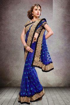 Pretty Persian Blue #Saree
