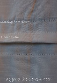 french seam as shown by beyond the screen door.