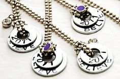 """""""Believe"""" One of the best """"washers as jewelry"""" I've seen. Good tutorial. #diy #crafts #necklace #charms #washer #hardware #stamping #inspiration #tutorial"""