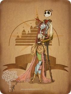 character art, galleri, steampunk jack, christmas, skeleton, tim burton, salli, disney characters, jack skellington