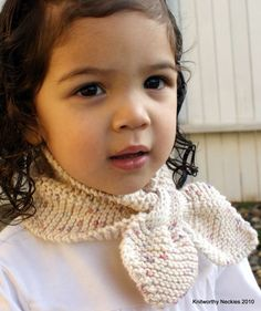 Knitworthy's Child Neckie in Oatmeal 'n Berries #fall #winter #knit #knitted