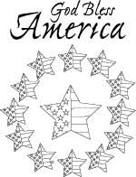 Never forget God bless America coloring page or digital stamp.