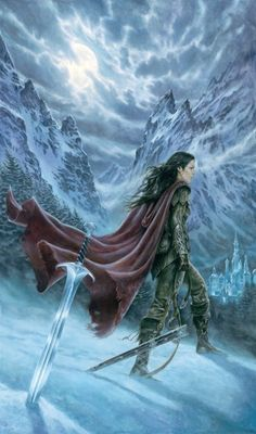Warrior woman. The mountains and sky give a great aspect in this warrior picture. #Fantasy #WarriorWoman