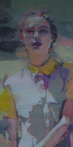 "mark horst, ""the secret life no. 9"" oil on canvas, 24"" x 48"", oil on canvas, 2012"