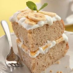 Rich Fruit Cake Recipe - Banana Cream Layer Cake - http://bestrecipesmagazine.com/rich-fruit-cake-recipe-banana-cream-layer-cake/