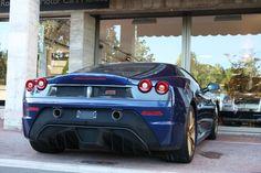 Blue Ferrari 430 Scuderia