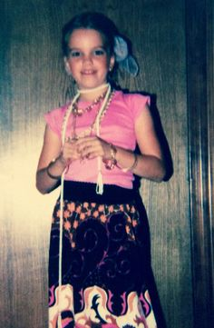 @MsMonicaMurphy is in her #Halloween costume!   Q: Tell us about the photo. A: I was 8. In the third grade and dressed as a gypsy for my school's Halloween carnival. I loved that skirt. It was so colorful and we found it at a thrift shop!  Q: What is your favorite paranormal romance? A: Sylvia Day wrote a novella YEARS ago in a two author anthology called Magic and Mayhem (Sylvia's story was Mayhem).  The heroine puts a little spell on the hero and he falls for her at a Halloween party!