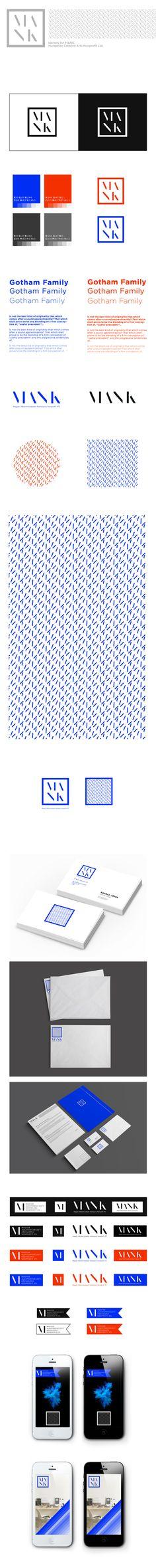 MANK / Hungarian Creative Arts Nonprofit Ltd Identity by Misi Szilágyi, via Behance