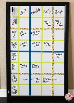 Dry-Erase Weekly Schedule Board
