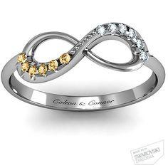 Infinity Mother's Ring - November & April -