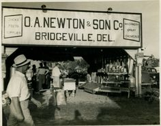 O.A. Newton at the Delaware State Fair - 1940's